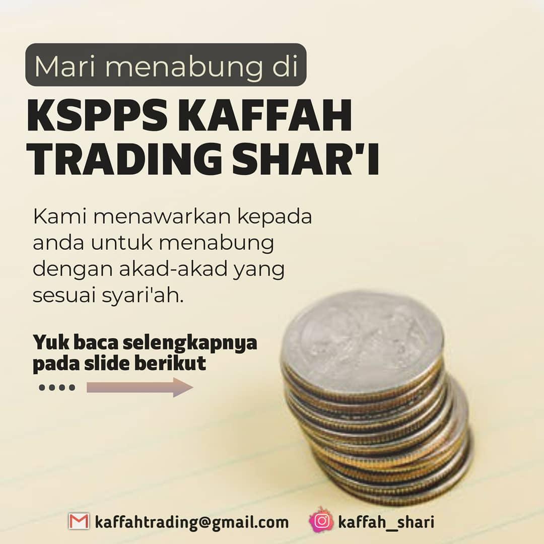 Mari Menabung di Kaffah Trading